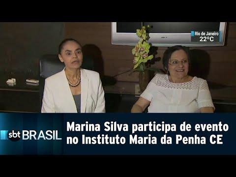 Marina Silva participa de evento na Sede do Instituto Maria da Penha no CE | SBT Brasil (20/08/18)