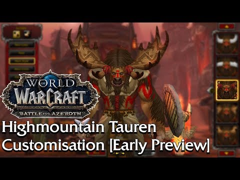 An Early Preview of the Highmountain Tauren Create Options | World of Warcraft thumbnail