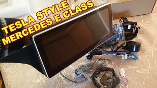 Unboxing Android Tesla Style Screen (Comand) for Mercedes E Class