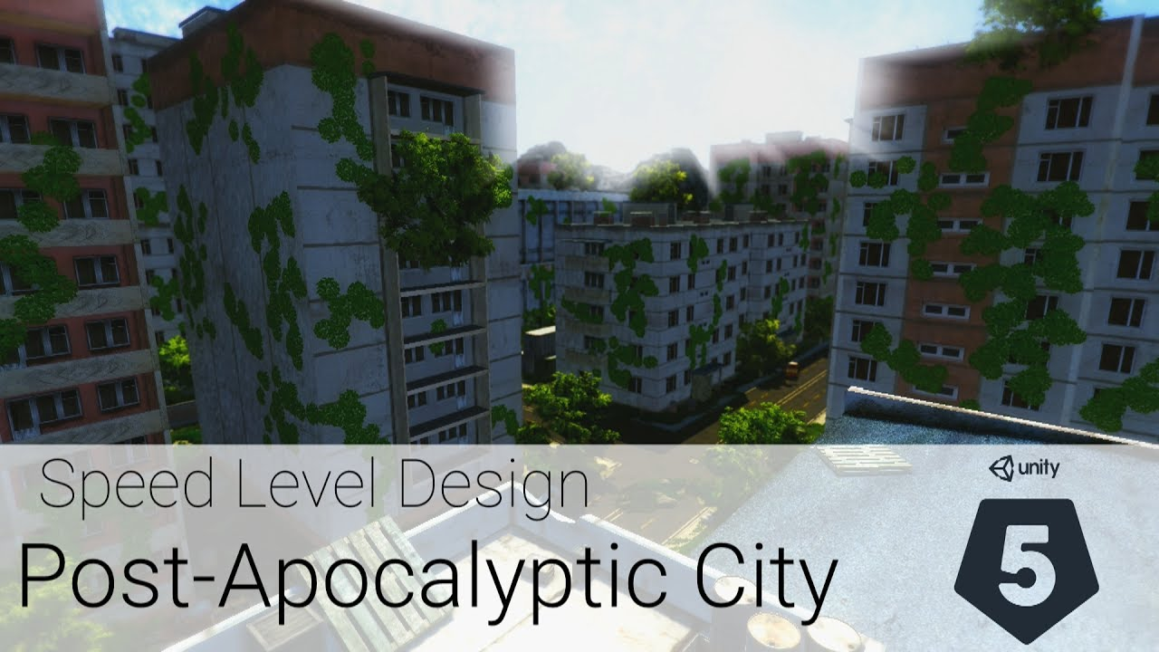 Post-Apocalyptic City - Speed Level Design - FREE assets only [Unity3D]