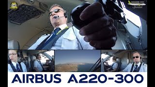Cool as cool can be: Bombardier CS300 brought back to earth by Captain Gerhard [AirClips]