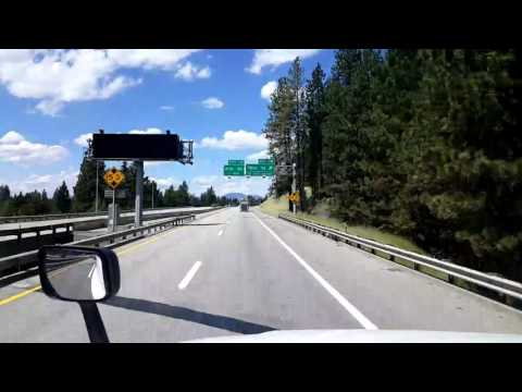 Bigrigtravels Live! Interstate 90 West at mile 24 to Post Falls, Idaho July 20, 2016