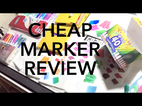 Product Review: 4 Brands of Cheap Markers