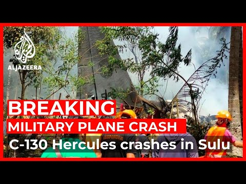 At least 17 killed in Philippines military plane crash