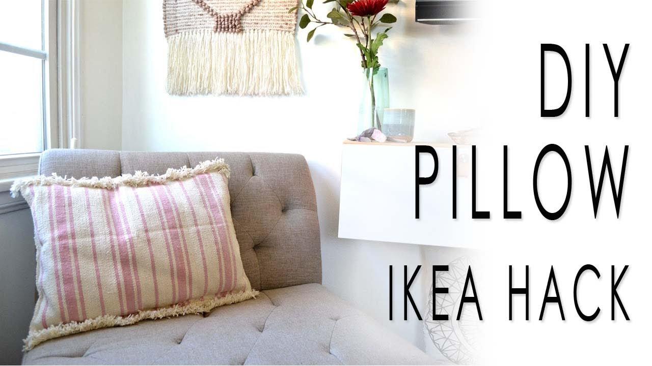 DIY Pillow IKEA HACK - YouTube