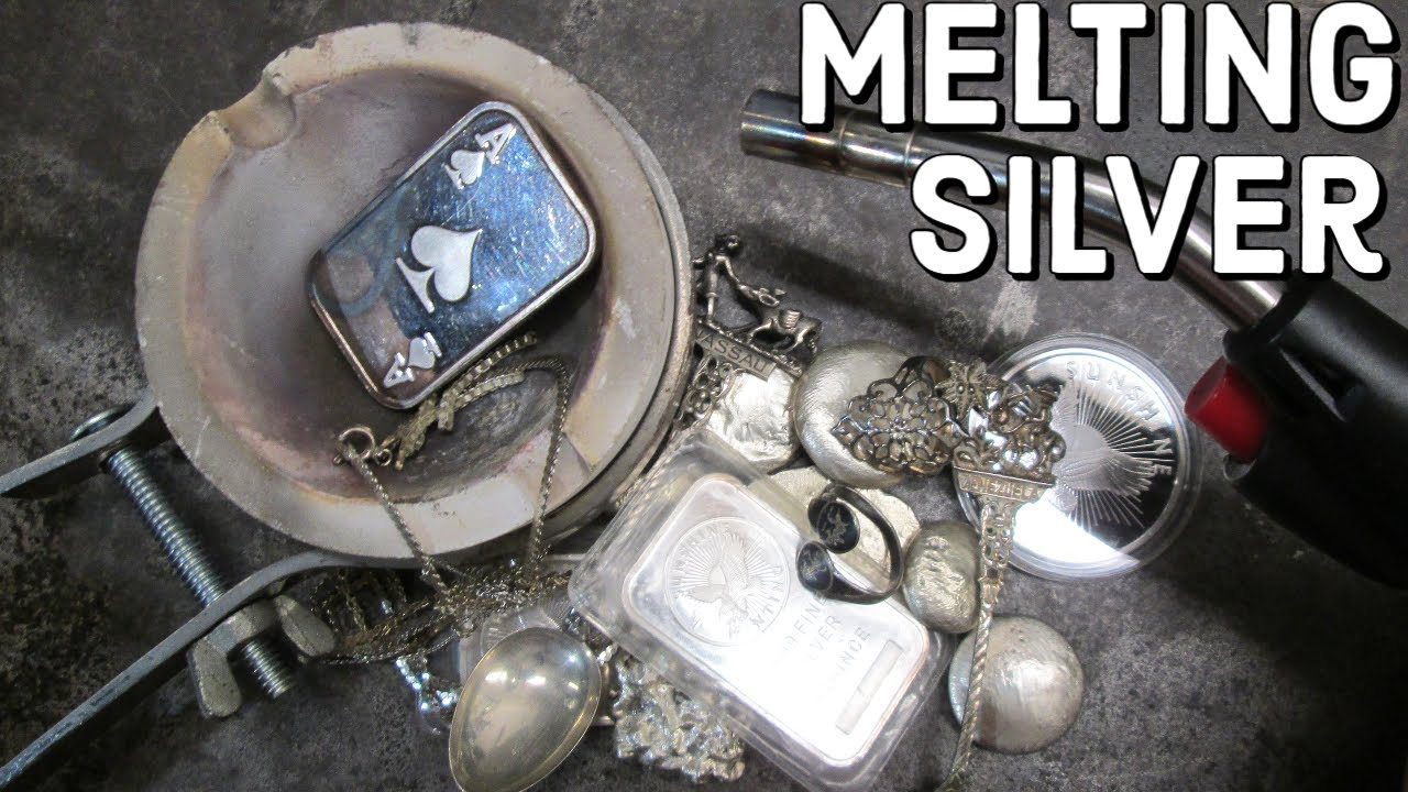 how to melt down silver at home