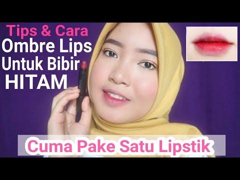 cara-membuat-ombre-lips-untuk-bibir-yang-hitam---cuma-pake-1-lipstik!-ombre-ala-korea-||-vinamaysha
