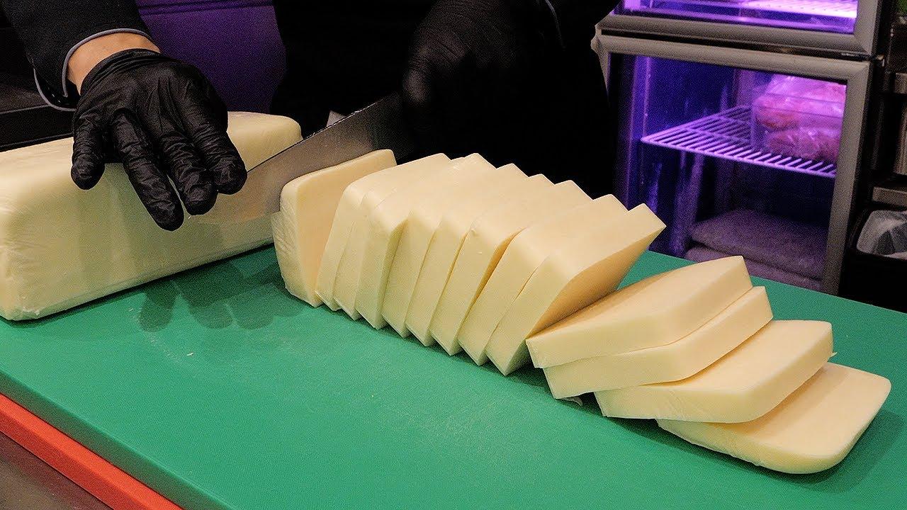 하루 100인분 한정판매! 치즈 돈까스 / pork cutlet with mozzarella cheese / korean street food