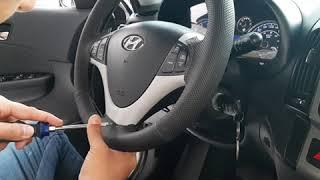 Revestindo volante do Hyundai i30