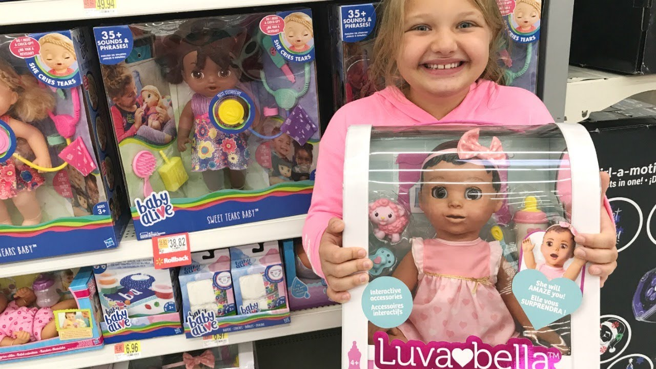 Toy Shopping At Walmart For Dolls Luvabella Unboxing Toys