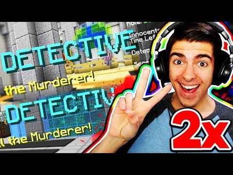 I GOT DETECTIVE TWICE IN A ROW! 🔍 (Minecraft Murder Mystery)