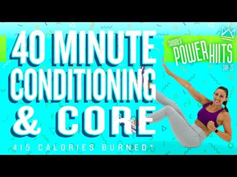 40 Minute Conditioning and Core Workout 🔥Burn 415 Calories!* 🔥Sydney Cummings