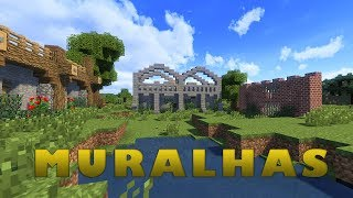 Minecraft: Dicas de Construção - 12: MUROS/MURALHAS
