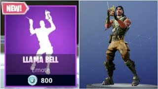 New Emote* Llama Bell*....Testing emotes on Fortnite Android Beta Version.