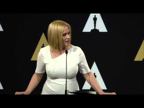 Oscars Nominee Luncheon 2015: Patricia Arquette Backstage