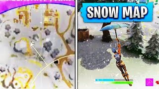 *NEW* SNOW MAP GAMEPLAY in Fortnite Season 5! - Fortnite SECRET SNOW MAP GAMEPLAY!