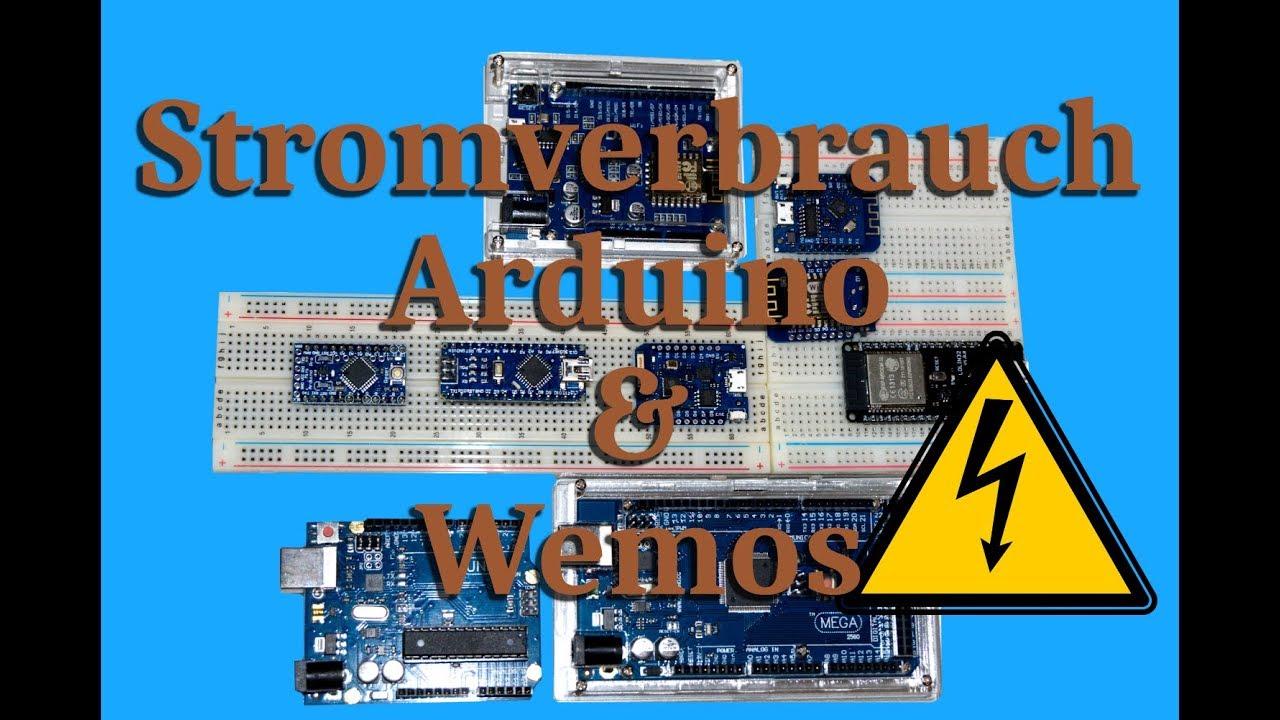 Stromverbrauch Arduino & Wemos Boards