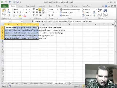 Excel Video 260 Use Fill Justify to Manage Text