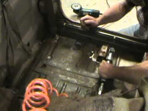 Cut Out Replace Rusty Floorboard Youtube