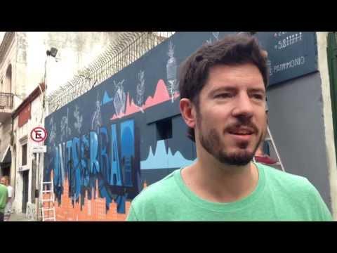 Open Data Day en Buenos Aires 2014 - Mural Montserrat con Rudi Borrmann