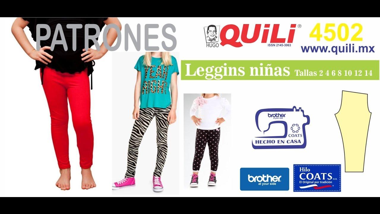 4502 Leggins niñas PATRONES QUILI www.hugoquili.com - YouTube