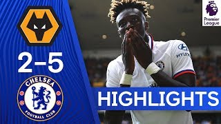 Wolves 2-5 Chelsea  Tammy Abraham Hat Trick amp Tomori Stunner  Highlights