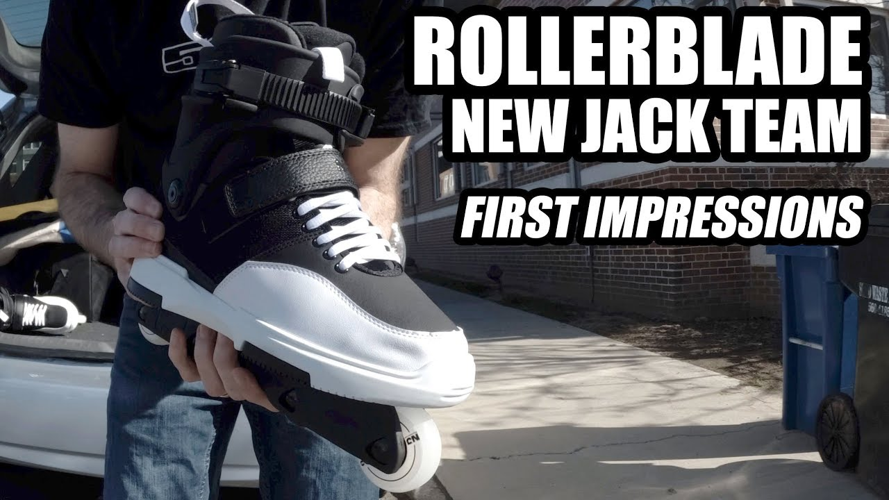 2c9c7132c6b4 Rollerblade New Jack Team Inline Skate - FIRST IMPRESSIONS - YouTube