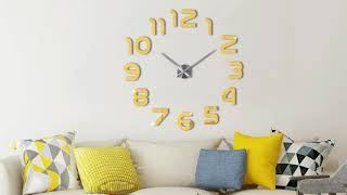 3d Diy Wall Clock For Home Decoration | Assembly Video | Designer Wall Clocks