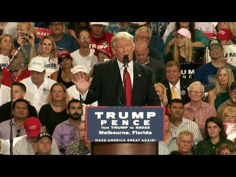 Donald Trump adresses Melborne Florida
