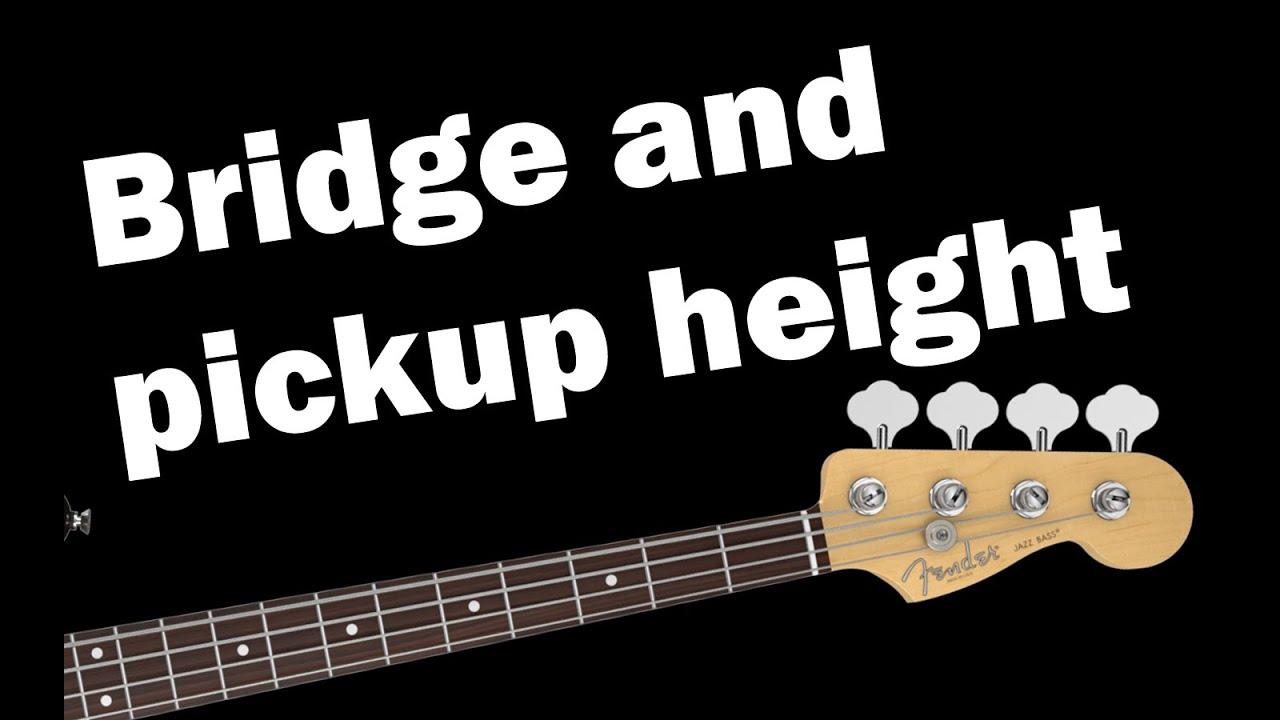 bass adjustment care bridge height and pickup height adjustment step 3 of 4 youtube. Black Bedroom Furniture Sets. Home Design Ideas