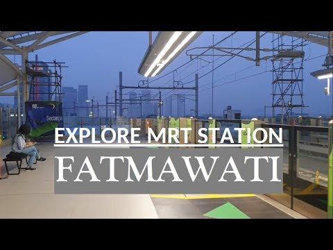 Evening Walk ~ Explore Stasiun MRT Fatmawati ~ Walking Around MRT Jakarta Station
