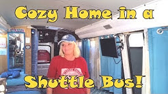 Christine's Wonderful Shuttle Bus RV Conversion - Tour and Interview