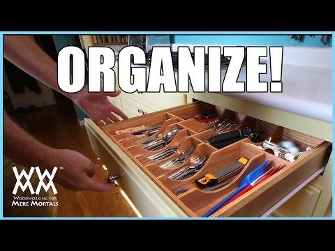 Kitchen Drawer Organizer. DIY woodworking project