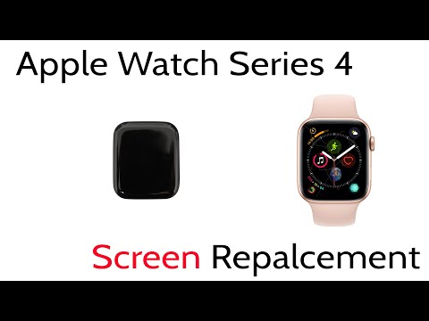 Tutorial How To Replace Repair Broken Cracked Screen Apple Watch Series 4