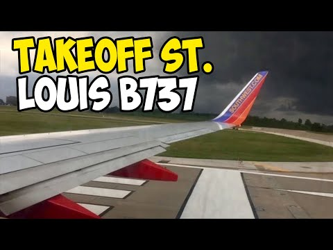 Takeoff From Lambert- St. Louis International Airport (STL)- Southwest Airlines (HD) (60FPS)