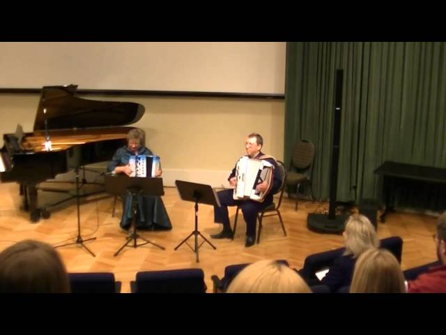 Finnish Polka - Accordion Duo Elena & Gregory