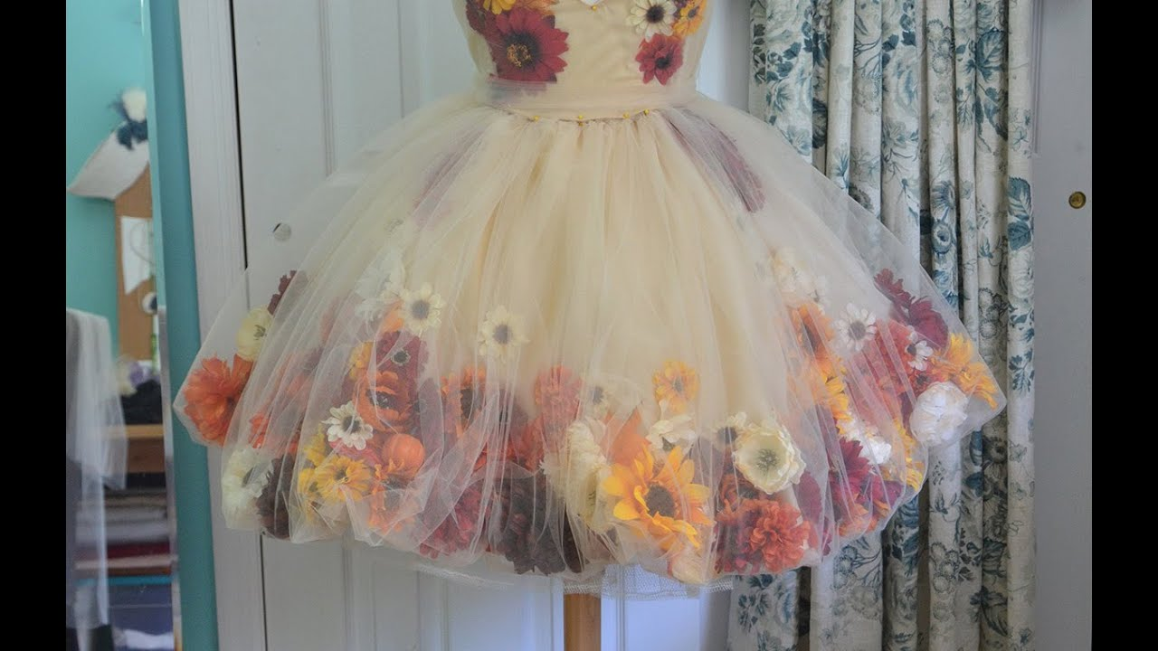 Making A Flower Fairy Dress Part One Youtube