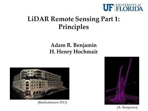 LiDAR Remote Sensing Part 1: Principles