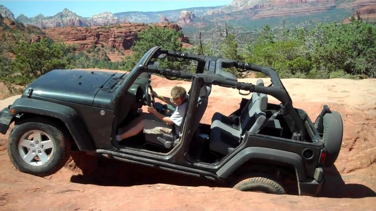 4 Door Jeep Sliding Sideways On The Crack Broken Arrow