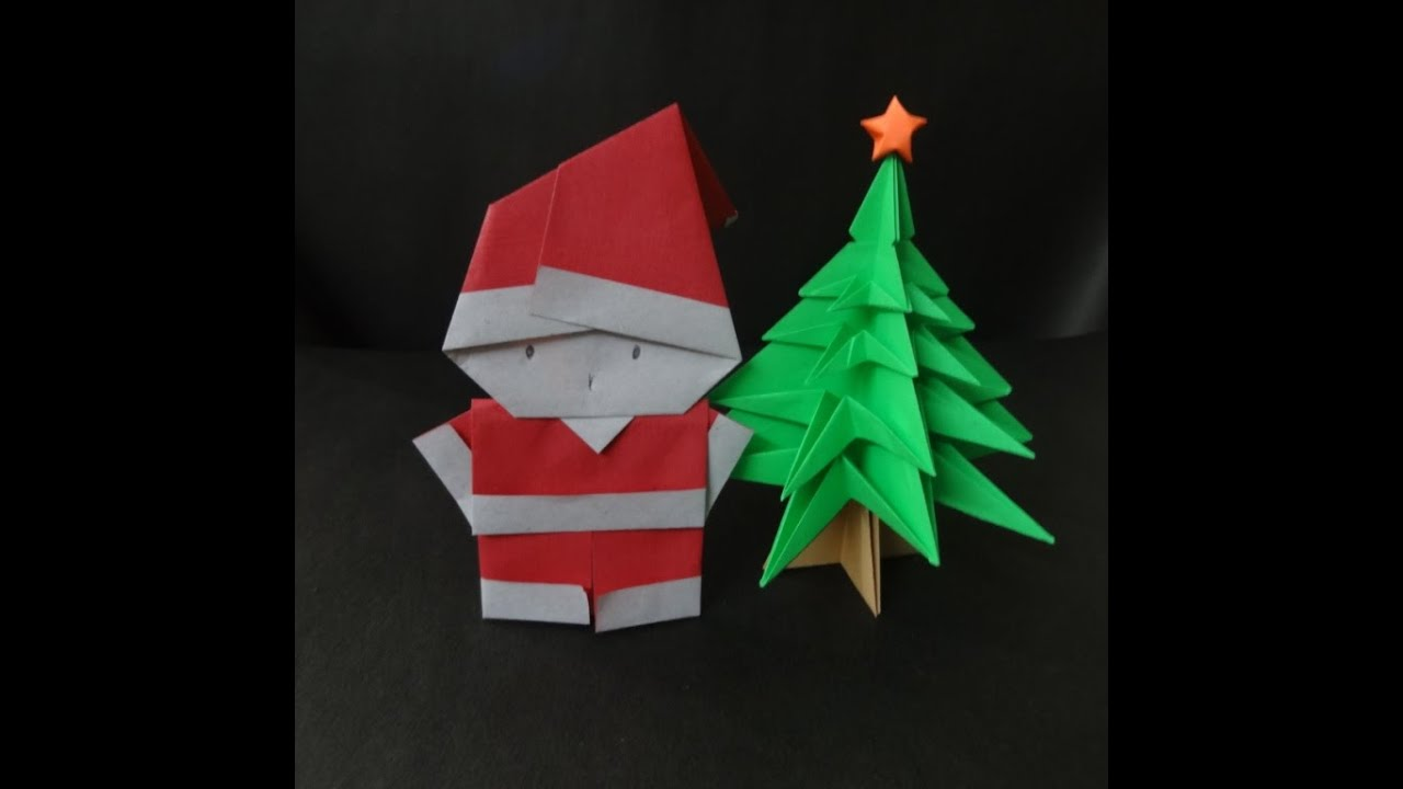 Christmas Crafts How To Fold A Santa Clause