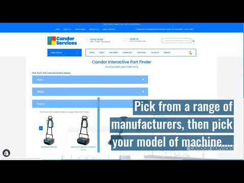 Introduction to Candors interactive part finder