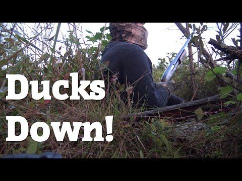 Dawn Hunt | Makeshift Ground Blind | Ducks Down!