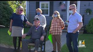 Veteran Stories - WWII Veteran and COVID-19 Survivor Celebrates 101st Birthday - WBZ Boston reports