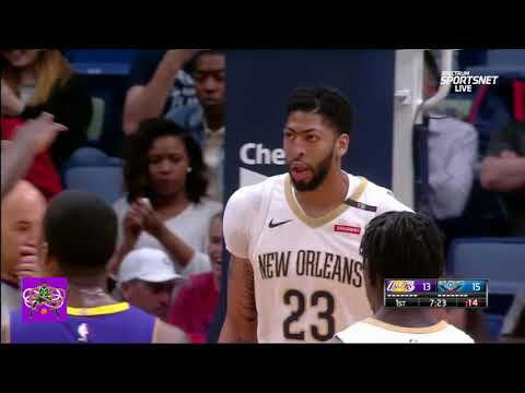 Anthony Davis You need to eat more meat, kid play on Kyle Kuzma