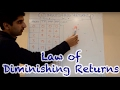 Y2/IB 1) Law of Diminishing Returns