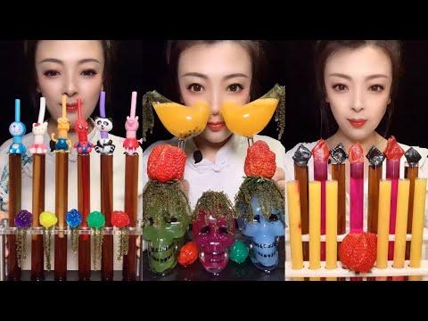 Uống Nước Giải Khát Trái Cây FOOD MUKBANG ASMR drink mix that's been colored with food coloring