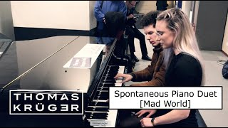 SPONTANEOUS PIANO DUET [Mad World] ...
