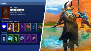 The Free FROZEN SHROUD Back Bling in Fortnite..