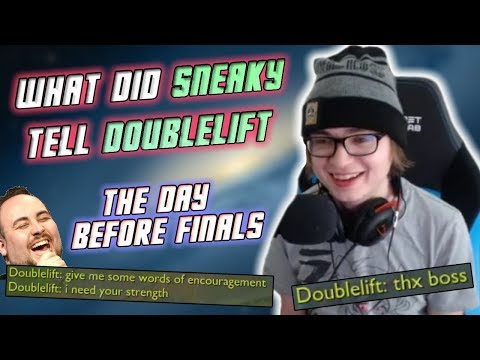 Sneaky Chats with Jensen & Doublelift...