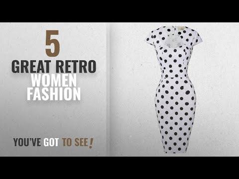Retro Women Fashion [2018 Best Sellers]: Polka Dots Vintage Ball Prom Dress Cap Sleeve White S